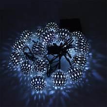 На солнечных батареях 20/30/50 светодиодный светильник ing батарея круглый шар Ligh водонепроницаемая светодиодная лента подсветка светильник са...(Китай)