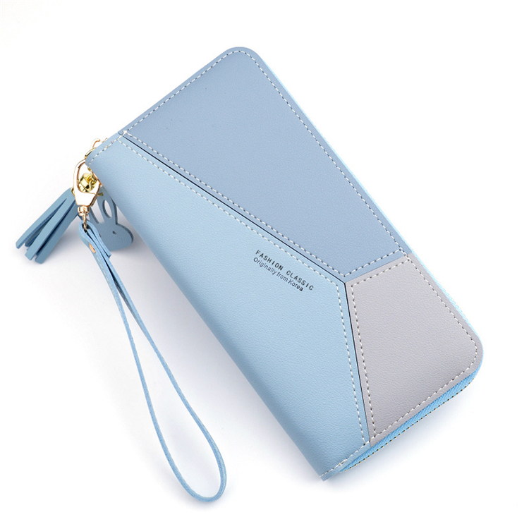 2019 tan casual long fashion style female <strong>leather</strong> wallet for customize