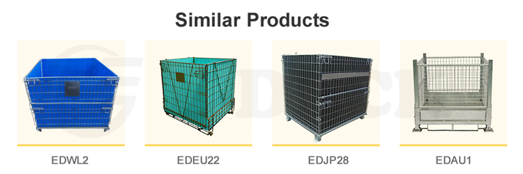 High Capacity Heavy Duty Foldable Lockable Welded Stackable Collapsible Metal Steel Wire Mesh Storage Containers