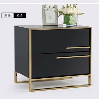 Wholesale high quality Bedroom furniture modern style stand full solid wood bedside table