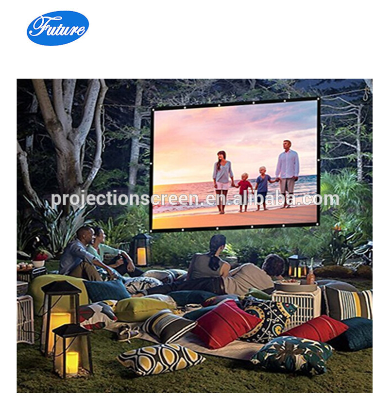 60- inch 4:3 Portable Projector Screen Simple Wall Mounted Matte White Projection Screen Suitable for HDTV/Sports/Movies