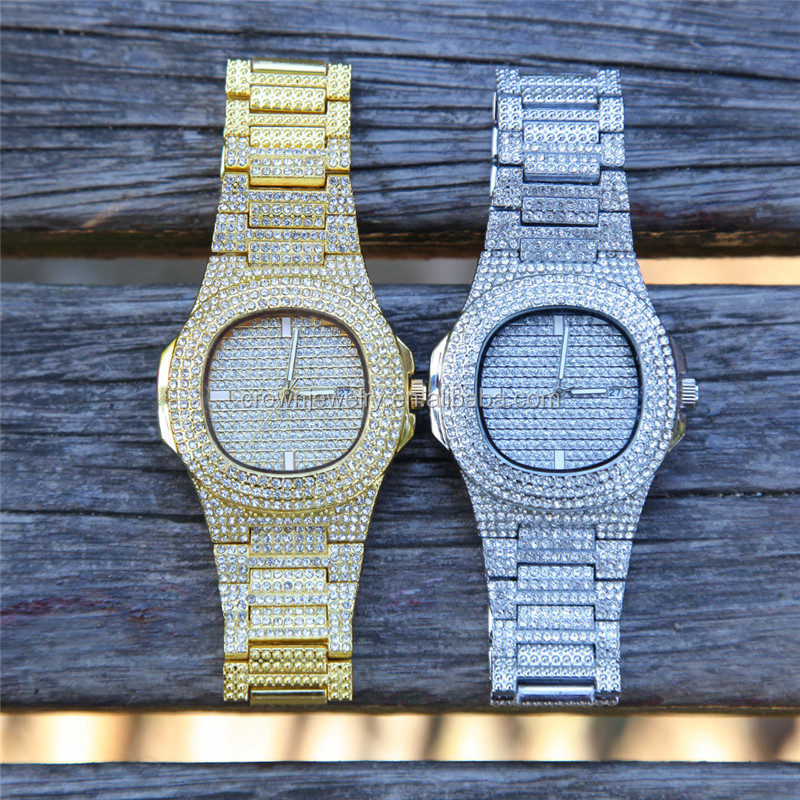 Hiphop watch men jewelry professional factory supplier OEM new design all full diamonds watch