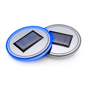 Solar Energy Cup Mat Coaster Holder Interior Decoration Atmosphere LED Light coaster for Car