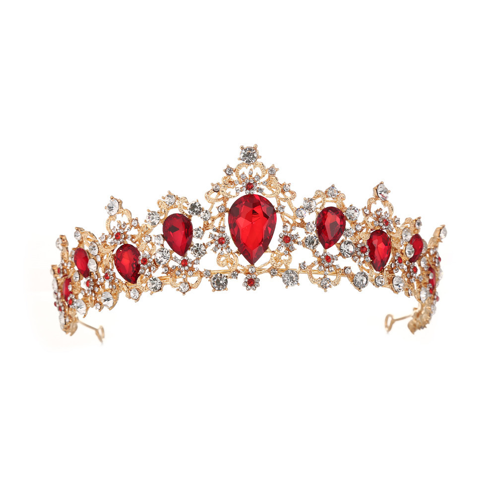 Baroque retro queen Crystal <strong>Crown</strong> Bride hair accessories tiaras and <strong>crowns</strong> wedding
