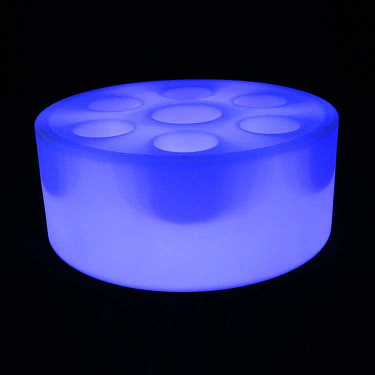 Cubo Led de hielo impermeable para Club nocturno