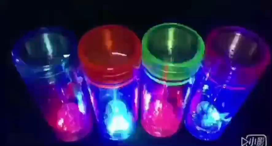 Пластиковая маленькая акриловая мини-чашка для кальяна, аксессуары для кальяна, портативные светящиеся кальяны со светодиодной подсветкой
