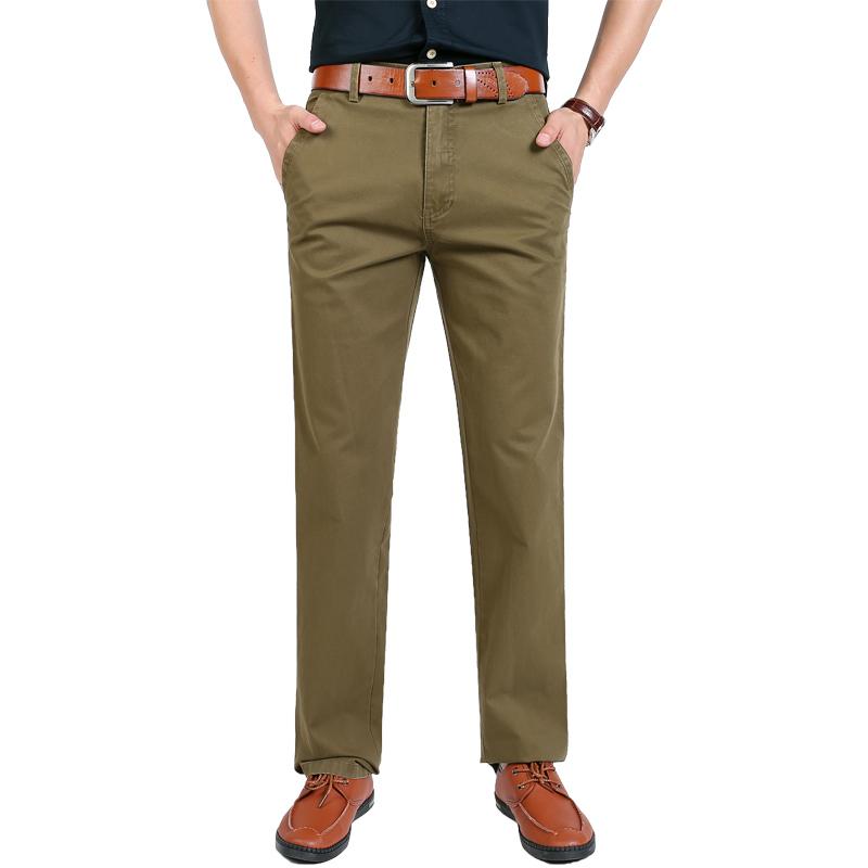 100% pantaloni degli uomini di affari degli uomini del cotone pantaloni casual commercio all'ingrosso di utensili