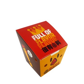 Custom Disposable Paper Fried Chicken Nugget Paper Packaging Box