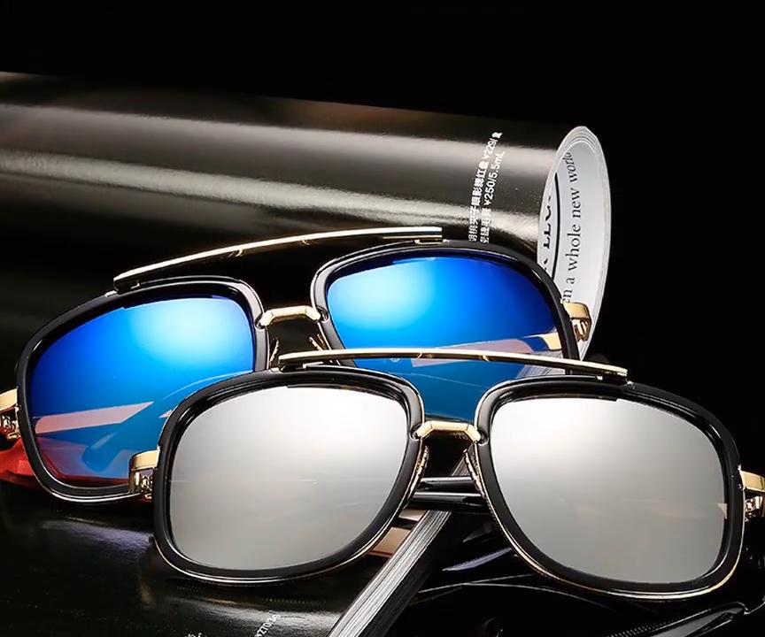 Commercio all'ingrosso 2019 Vendita Calda Vintage Shades Occhiali Da Sole Per Uomo UV400 Piazza Degli Uomini Occhiali Da Sole di Grandi Dimensioni