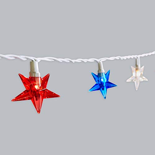 UL 20Sets Patriotic Red White Blue Star Light Memorial Day Presidents Day