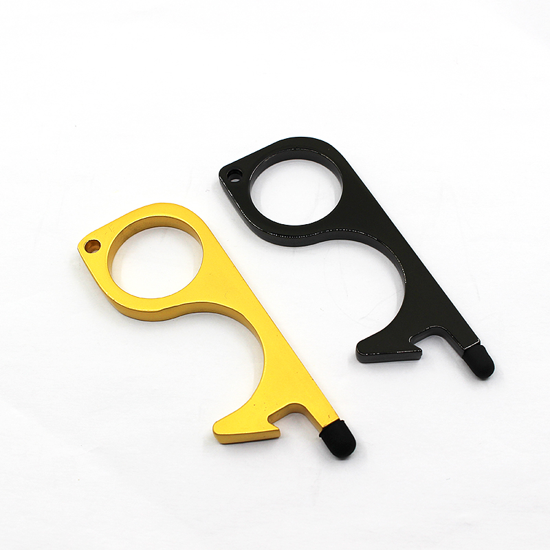 high quality wholesale custom brass no touch door opener keychain