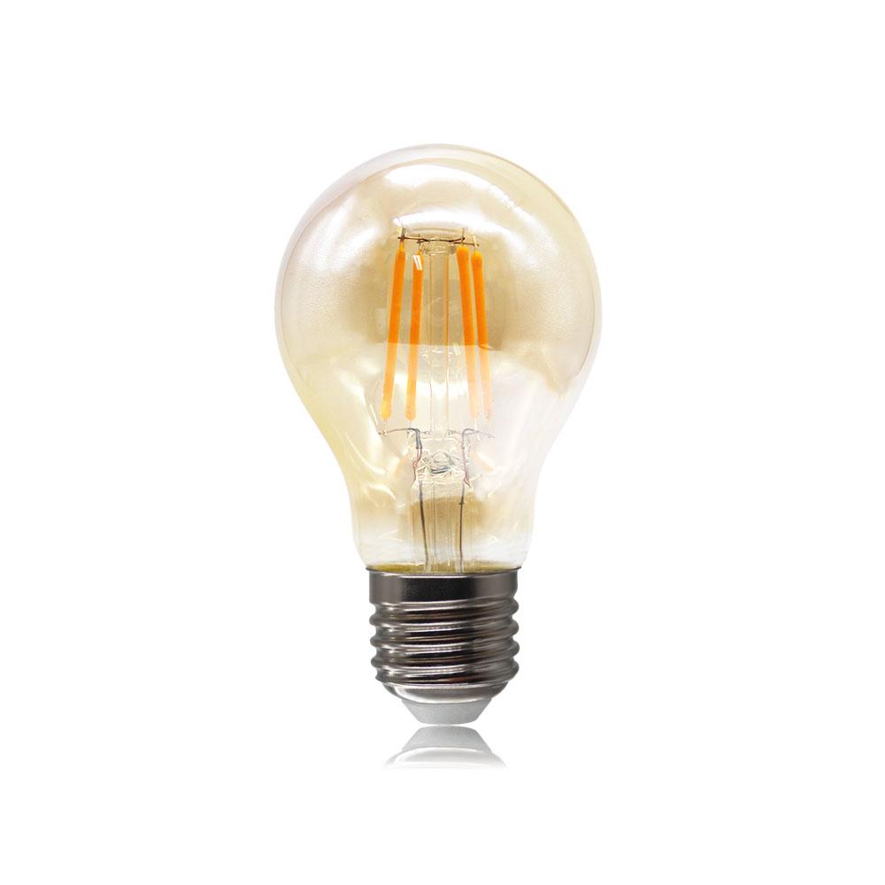 A19 A60 LED filament bulb lamp clear&smoke glass dimmable 4W 110-240V E26 E27 B22 Base