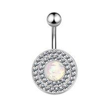 L. Mirror, 1 шт., кольца на пуговицах для живота, 316, медицинская нержавеющая сталь, стразы, Пирсинг живота для женщин, девочек, пупок, кольца(Китай)