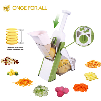 2020 New Hotsale ONCE FOR ALL Multi-functional Pressing handheld Vegetable mandoline chopper Fruit Slicer Food Cutter