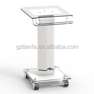 Beauty Equipment Aesthetic Acrylic Cart Trolley Salon Spa Facial Hairdressing Acrylic Trolley