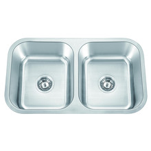 American Standard 304 <span class=keywords><strong>Stainless</strong></span> Steel Undermount dan Double <span class=keywords><strong>Bowl</strong></span> Kitchen <span class=keywords><strong>Sink</strong></span>