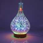 100ml Glass Bottle Aroma Diffuser 3D Colorful Ultrasonic Humidifier