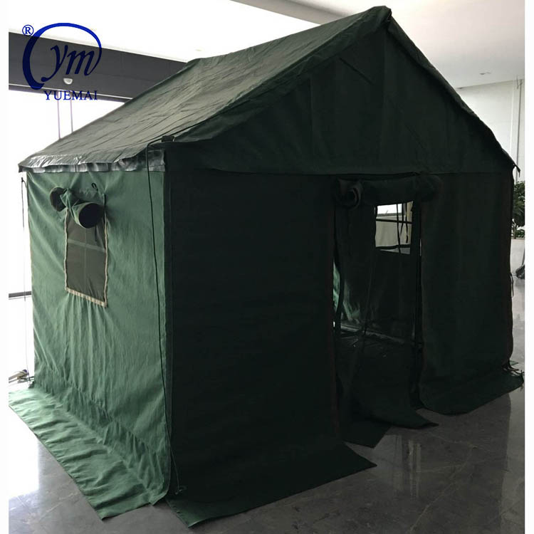 YUEMAI Factory Direct Heavy Duty 5*8 Waterproof Windproof Oxford Outdoor Camping Police Military Barrack Tents For Army
