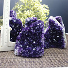 Natural Spiritual Hengmei Minerals Natural Druzy Quartz Cave Amethyst Cluster Geode For Spiritual Gifts Wholesale