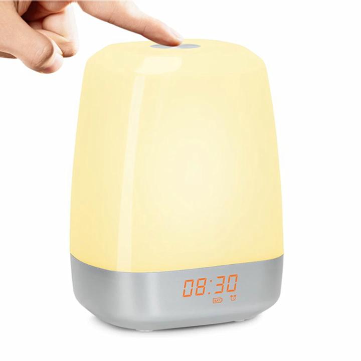 Hot Selling Sunrise Wake-up Light Therapy Brightness Adjustable Digital Table Alarm Clock