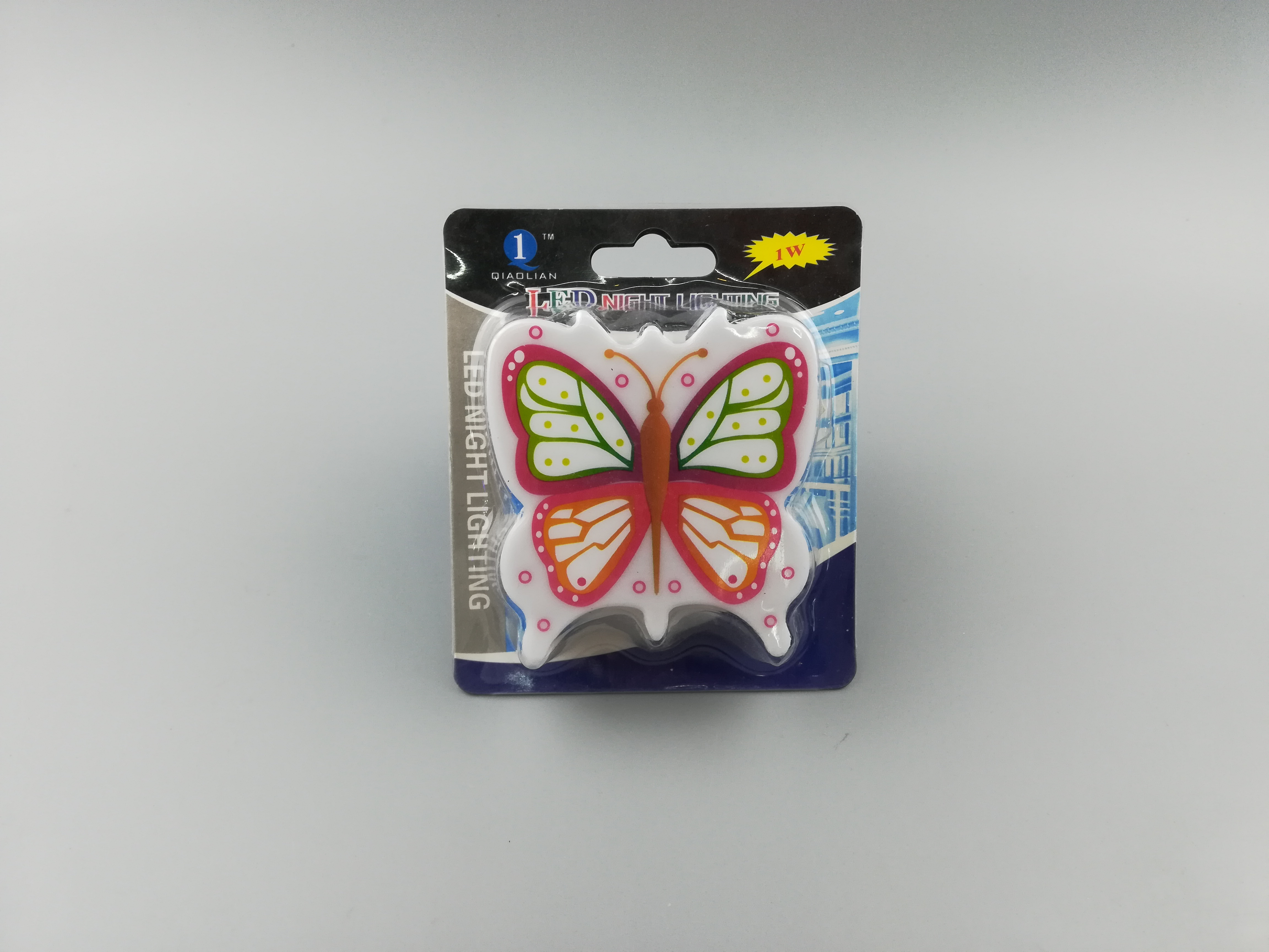 OEM W058 butterfly shape 4 SMD mini switch plug in night light with 0.6W 3SMD AC 110V or 220V