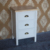 White 3 Drawer Antique Style Living Room Cabinet / Bedside Table