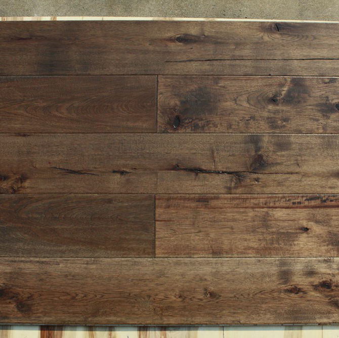 7 Inch Wide Plank Hickory Handscraped 3 Layer Engineered Wood
