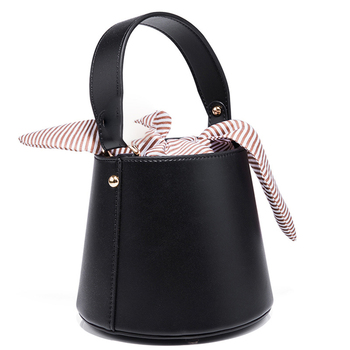 2019 Korean style Fashion tote bag bucket shape bowknot cross body bag woman handbag