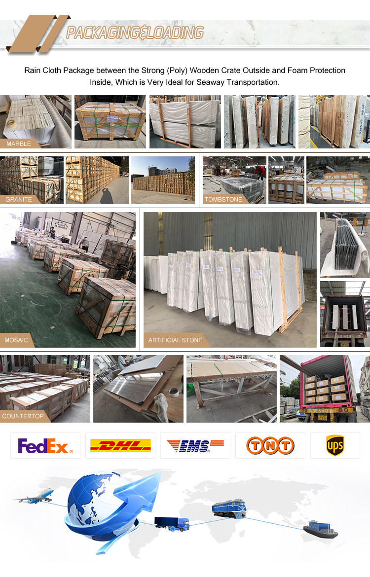 Wholesale Good Quality Polished White Wooden Marble