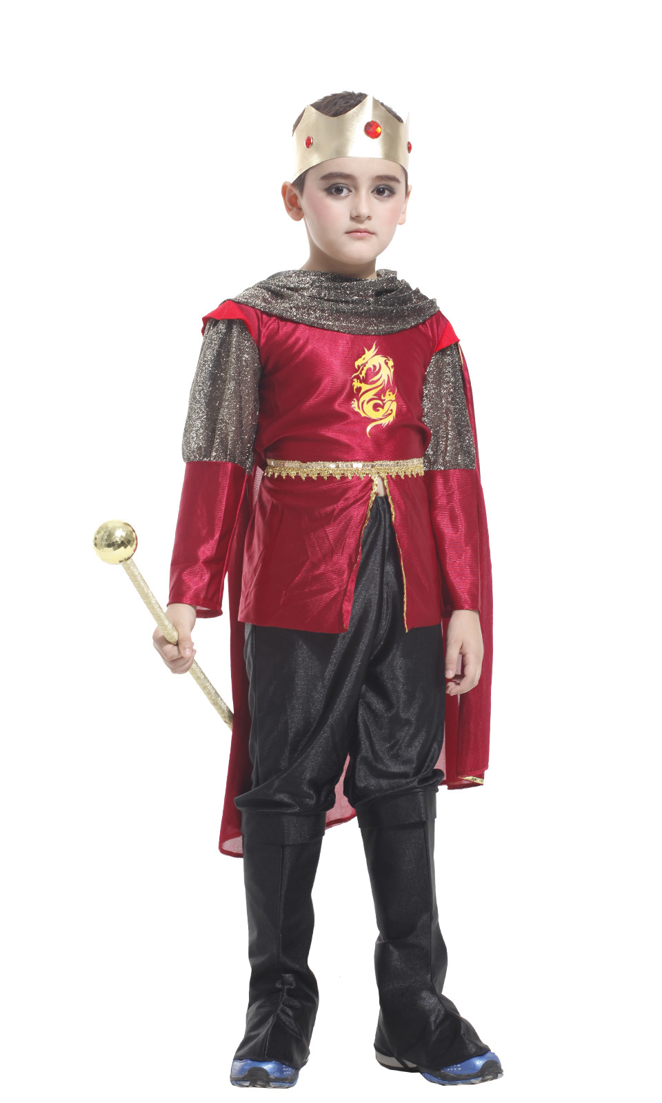 Kids King Costume Royal Robes For Boys Party Costume With Cloak Buy Kids Costume Boys Kids Costume Halloween Kids Costume Party Product On Alibaba Com