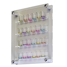 Glamdisplay <span class=keywords><strong>Workshop</strong></span> Serie, 24 Shot Acryl Vitrine Voor Wall Mount, Side Laden Acryl Rekken & Panelen