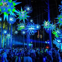 Christmas party outdoor decoration lighting inflatable ball inflatable stars promotion
