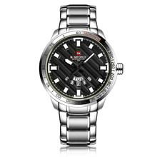 Новые модные мужские часы, золотые полностью стальные мужские наручные часы, спортивные водонепроницаемые кварцевые часы, мужские военные ...(China)
