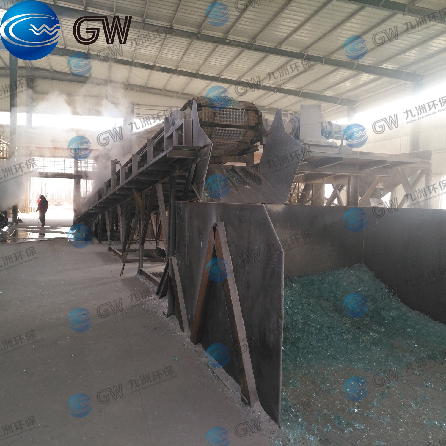 50 TPD Chain Plate Conveyor for Solid Sodium Silicate Glass Production Line