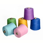 Yarn Fabric Fabric Yarn Good Quality Polyester Spun Color Yarn For Weaving Fabric Spun Polyester Yarn