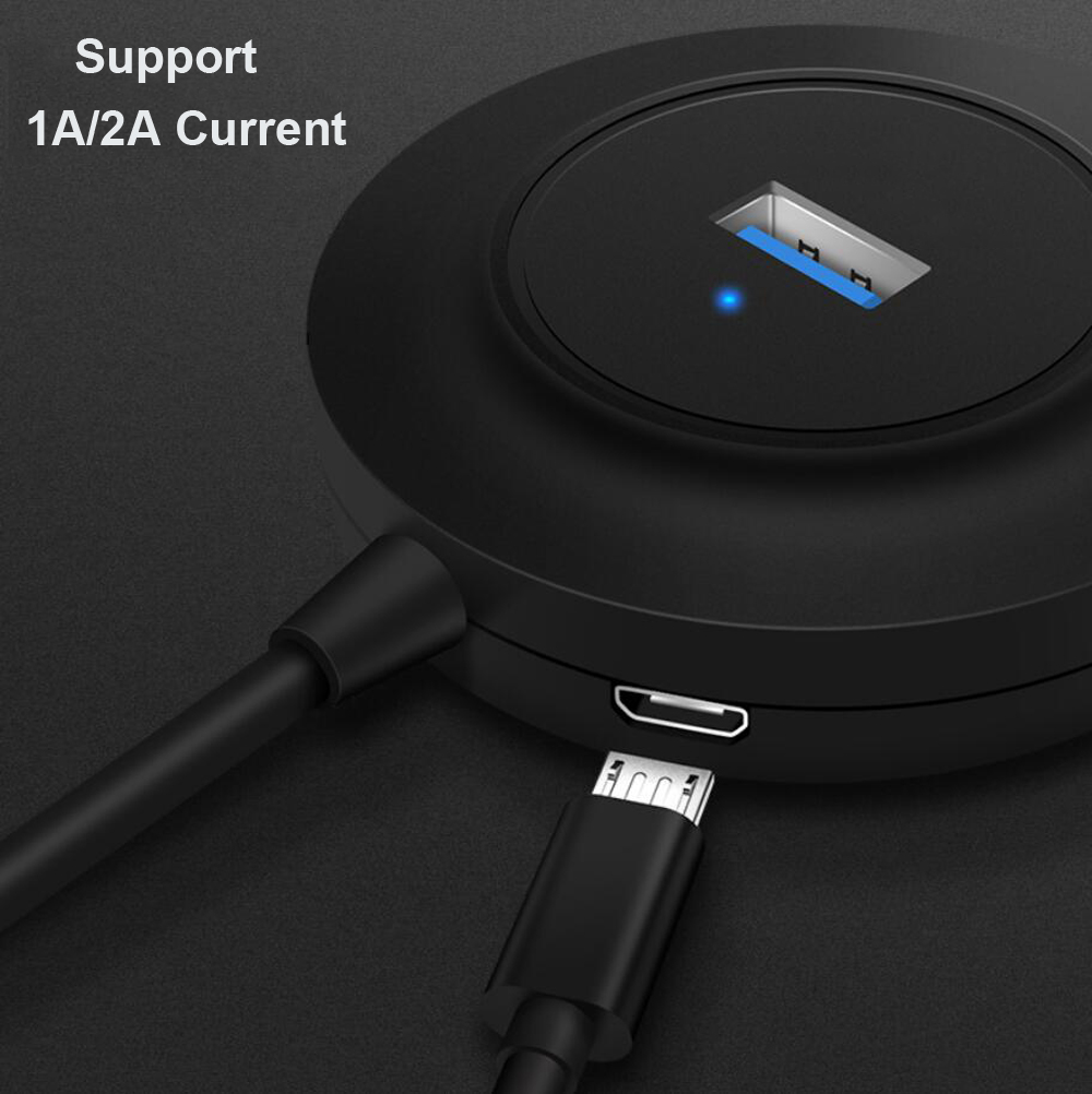 USB 3,0 Hub 4 Port 4-port 2,0 Daten Hub 5V Micro USB Power Adapter Kompatibel für macbook pro USB-Sticks HUB