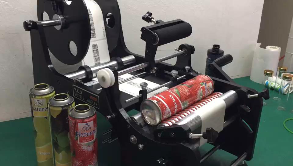 Semi Automatische Manuelle Tragbare Runde Flasche Kennzeichnung Maschine Für Kleine Unternehmen TB-26S
