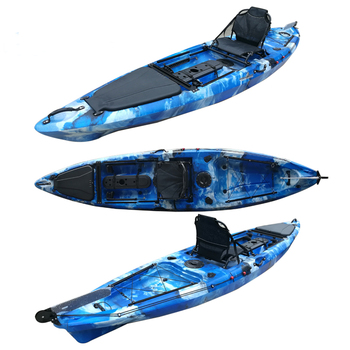 Wholesale 13ft deluxe single angler fishing kayaks