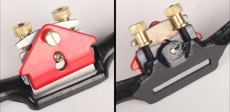 9'' Adjustable SpokeShave with Flat Base and Metal Blade for Wood Craft Wood Craver Wood Working and Hand Tool