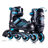 2018 America Amazon hottest selling model 4 rubber flashing wheels 100% AL alloy inline roller skates shoes