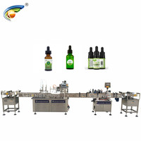 New design glass dropper bottle filling and capping production line for herbal
