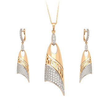 65664 Xuping women jewelry set earrings big , designer jewelry sets costume