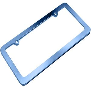 Hot sale custom small order cnc logo metal aluminum decorative car license plate frame