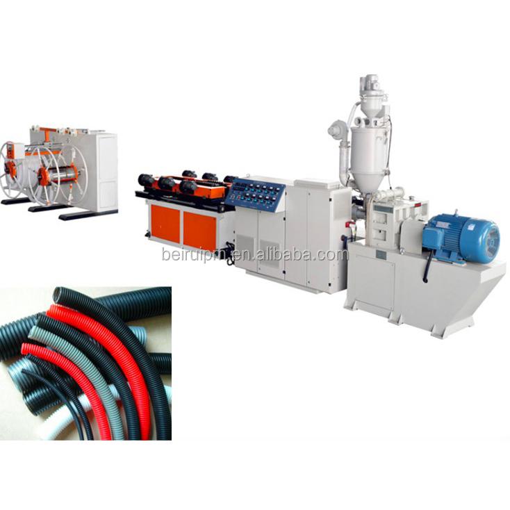 البلاستيك مرنة المموج قناة آلة دوامة خط إنتاج الأنابيب
