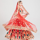 Pakistani traditional clothing Sequined Embroidered Skirt Suit sarees party wear wedding