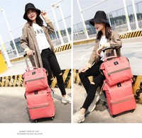High-end 2 Pieces Travel trolley Luggage bag Set, Lady Hand Bag Carry-on Luggage Bag