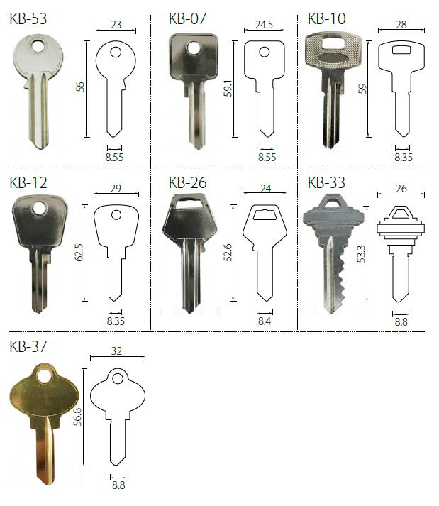 Master key euro lock cylinder with singe profile DIN18252 Standard-key bow options