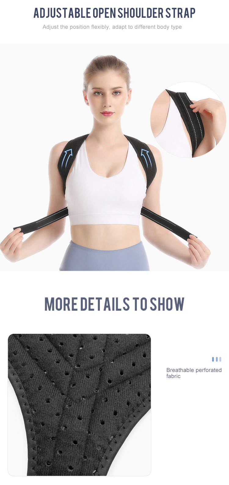 Wholesale Upper Back Support Correction Band Clavicle Support Back Straightener Shoulder brace