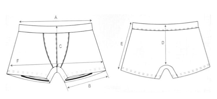 custom recycled fiber modal men underwear briefs inner wear for man