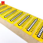 Strip Sticker Die Cut Waterproof Self Adhesive Thermometer Strip Sticker For Wholesales